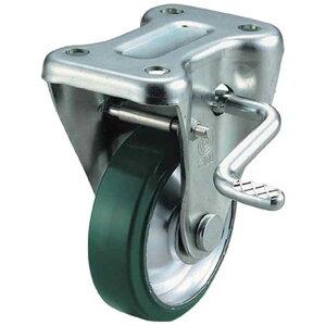 ユーエイキャスター 産業用キャスターS付固定車 100径ウレタン車輪 UWKB100Y