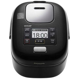 パナソニック Panasonic 炊飯器 「Wおどり炊き」[3合/圧力IH] SR-JW058-KK シャインブラック