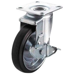 ユーエイキャスター 産業用キャスターS付自在車 150径ゴム車輪 WJ2150S