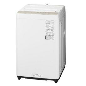 パナソニック Panasonic 全自動洗濯機 Fシリーズ [洗濯6.0kg/ビッグウェーブ洗浄/送風乾燥付き] NA-F60B14-C ニュアンスベージュ(標準設置無料)