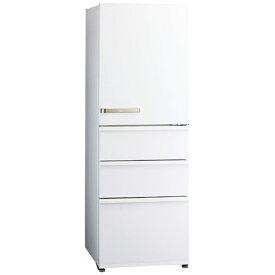 アクア AQUA 4ドア冷蔵庫 [右開き/355L] AQR-36K-W ウォームホワイト(標準設置無料)