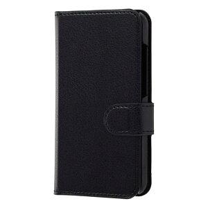 レイアウト AQUOS R compact用 手帳 シンプル マグネット RT-AQRCOELC1 BB ブラック