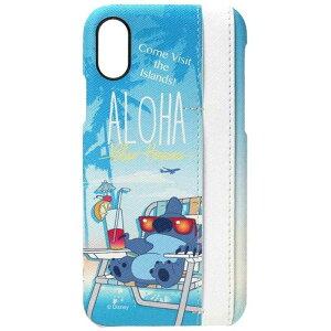 PGA iPhone X用 ディズニー ハードケース ポケット付き 3ポケット スティッチ  PG-DCS295STI