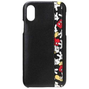 PGA iPhone X用 ディズニー ハードケース ポケット付き 3ポケット ミッキーマウス PG-DCS293MKY