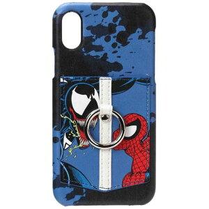 PGA iPhone X用 ディズニー ハードケース ポケット&リング付き PG-DCS311SPM スパイダーマン&ヴェノム