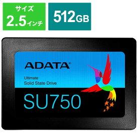 ADATA 内蔵SSD SATA6Gb/s 3DTLC 7mm [2.5インチ /512GB] ASU750SS-512GT-C