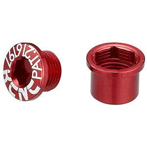 KCNC チェーンリング ボルト M8.5×0.75×4.5ボルト/M8.5×0.75×4.5ナット 263112(レッド)シングル用 5PCS