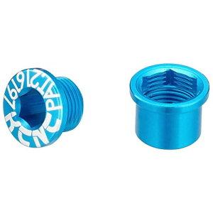 KCNC チェーンリング ボルト M8.5×0.75×4.5ボルト/M8.5×0.75×4.5ナット 263114(ブルー)シングル用 5PCS