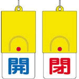 ユニット 回転式両面表示板 開:青文字 閉:赤文字 101×48 85731