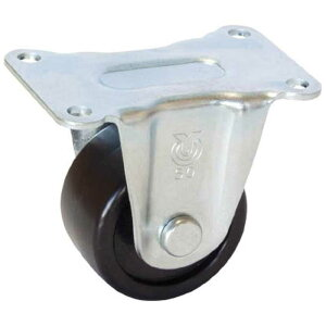 ユーエイキャスター 重量用キャスター 固定車ストッパー付 75径 強化ナイロン車輪 HR75GNB