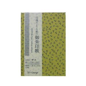 オフィスサニー 印傳のような紙の御朱印帳(勝虫/抹茶) オフィスサニー 97014