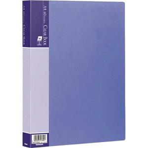 ナカバヤシ クリアブック/ベーシックカラーA4判60Pブルー CBE1034B