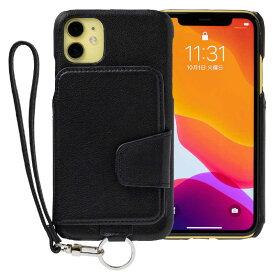 トーモ RAKUNI Leather Case for iPhone 11 rak-19ipm-blk ピュアブラック