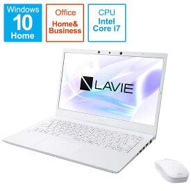 NEC ノートパソコン LAVIE N14シリーズ[14.0型/intel Core i7/SSD:512GB/メモリ:8GB] PC-N1475BAW パールホワイト