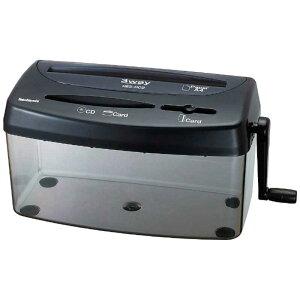ナカバヤシ ハンドシュレッダー ブラック [クロスカット/A4サイズ] HES-H02