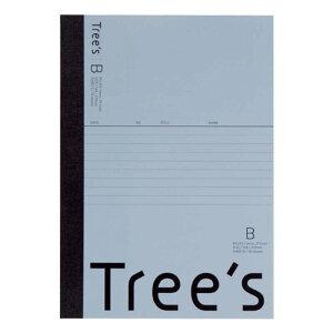 キョクトウアソシエイツ Trees A5 B罫30枚 ブルーグレー ブルーグレー UTRBA5GR