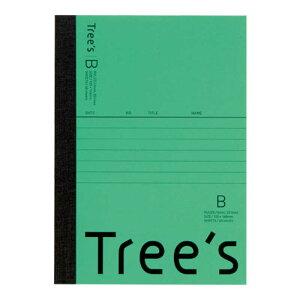 キョクトウアソシエイツ Trees A6 B罫48枚 グリーン グリーン UTRBA6G