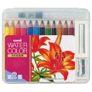 三菱えんぴつ [水彩色鉛筆] ユニ ウォーターカラー ぬり絵用 コンパクトセット12色 (ライトトーン) UWCNCS12C2
