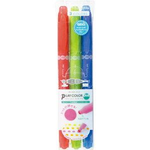 トンボ鉛筆 [水性サインペン]プレイカラードット 3色セットA GCE-311A