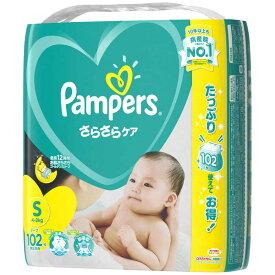P&G Pampers(パンパース) さらさらケア テープ Sサイズ(4kg−8kg) 102枚〔おむつ〕 パンパーステープウルトラエス(10