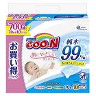 大王製紙 グーン肌にやさしいおしりふきつめかえ用70枚10個 グーンオシリフキカエ10P(70
