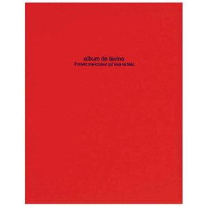 ナカバヤシ 100年台紙「ドゥファビネ」(A4サイズ) アH‐A4D‐161‐R (レッド)