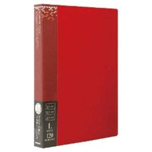 ナカバヤシ バインダー式ポケットアルバムフォトファイル(L判3段/レッド)  アS‐MY‐141‐R