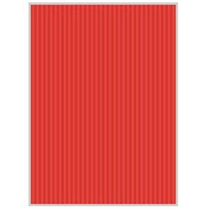 ヒサゴ リップルボード[薄口/クラフトペーパー](A4サイズ:3シート/レッド) RBU07A4