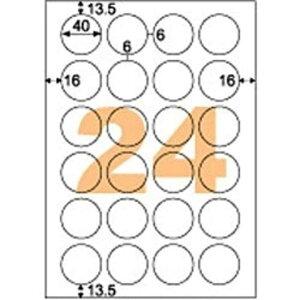 ヒサゴ きれいにはがせるラベル (A4サイズ・24面・20枚) OPH3019