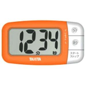 タニタ デジタルタイマー でか見えプラス  TD394‐OR (フレッシュオレンジ)