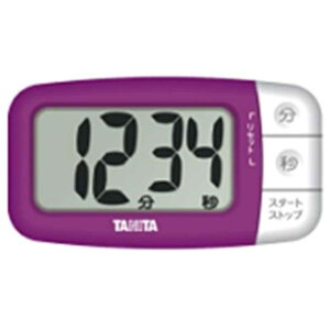 タニタ デジタルタイマー でか見えプラス  TD394‐PP (フレッシュパープル)