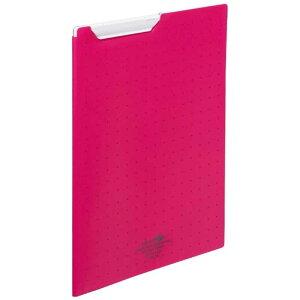 リヒトラブ [ファイル]AQUA DROPs クリップファイル A4 F50673 赤