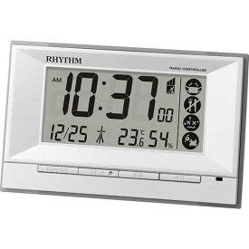 リズム時計 RHYTHM 電波目覚まし時計 温湿度計付 「フィットウェーブD207 白」 8RZ207SR03