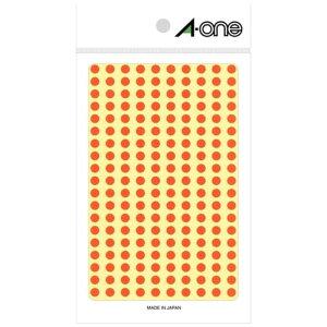 エーワン カラーラベル[5mmφ](200面:9シート(1800片)/橙) 07065
