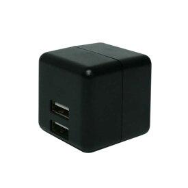 ミヨシ USB2ポート スマホ用USB充電コンセントアダプタ 2.4Aタイプ 自動出力制御機能付 IPAUS02BK(ブラ