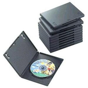 エレコム ELECOM DVDトールケース(1枚収納/10枚セット)「ブラック」 CCD-DVD03BK