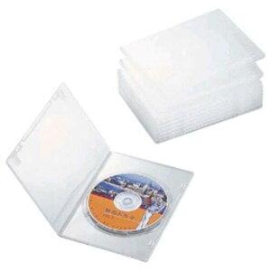 エレコム ELECOM スリムDVDトールケース(1枚収納/10枚セット)「クリア」 CCD‐DVDS03CR