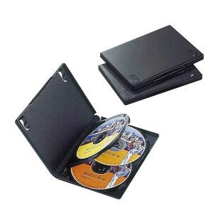 エレコム ELECOM DVDトールケース(4枚収納/3枚セット)「ブラック」 CCD-DVD08BK