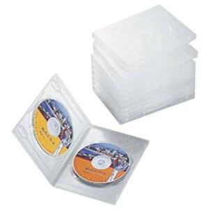 エレコム ELECOM DVDトールケース(2枚収納/10枚セット)「クリア」 CCD-DVD06CR