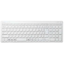 エレコム ELECOM ワイヤレスコンパクトキーボード/パンタグラフ式/ホワイト TK-FDP099TWH