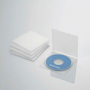 エレコム ELECOM CD/DVD/Blu−ray対応収納スリムケース(1枚収納×5セット) CCD-JPCS5CR