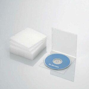 エレコム ELECOM CD/DVD/Blu−ray対応収納スリムケース (1枚収納×10セット・クリア) CCD-JPCS10CR