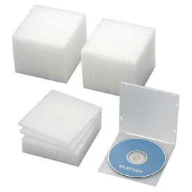 エレコム ELECOM CD/DVD/Blu−ray対応収納スリムケース(1枚収納×50セット) CCD‐JPCS50CR (クリア)