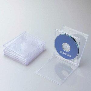 エレコム ELECOM CD/DVD/Blu−ray対応収納ケース (2枚収納×5セット・クリア) CCD‐JSCNW5CR