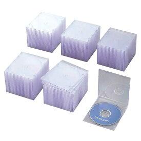 エレコム ELECOM CD/DVD/Blu−ray対応収納スリムケース (1枚収納×100セット・クリア) CCD-JSCS100CR