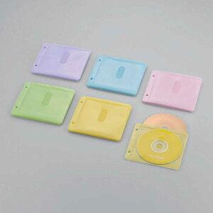 エレコム ELECOM 60枚収納 Blu−ray・CD・DVD対応不織布ケース 2穴 CCD‐NBWB60ASO (アソートカラー:ブルー・グリーン・イエロー・パープル・ピンク)