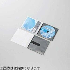 エレコム ELECOM CD/DVD用スリム収納ソフトケース CCD‐DPC10BK (ブラック)