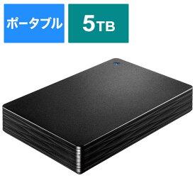 IOデータ 外付けHDD ブラック [ポータブル型 /5TB] HDPH-UT5DKR