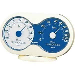 エンペックス 温湿度計「アキュート」 TM‐2786(オフホワイト)