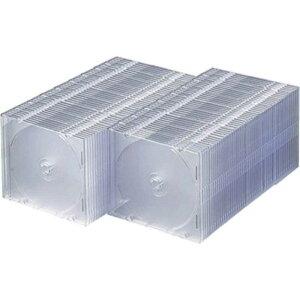 サンワサプライ CD/DVD/Blu−ray対応収納ケース (1枚収納×100セット・クリア) FCD‐PU100C